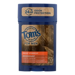 Tom's of Maine Deodorant - Mens - Long Lasting - Stick - Deep Forest - 2.25 oz -
